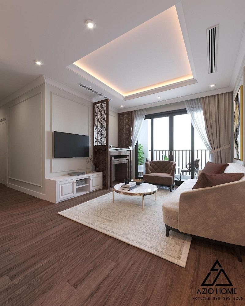 Mẫu thiết kế nội thất Phòng khách căn hộ chung cư