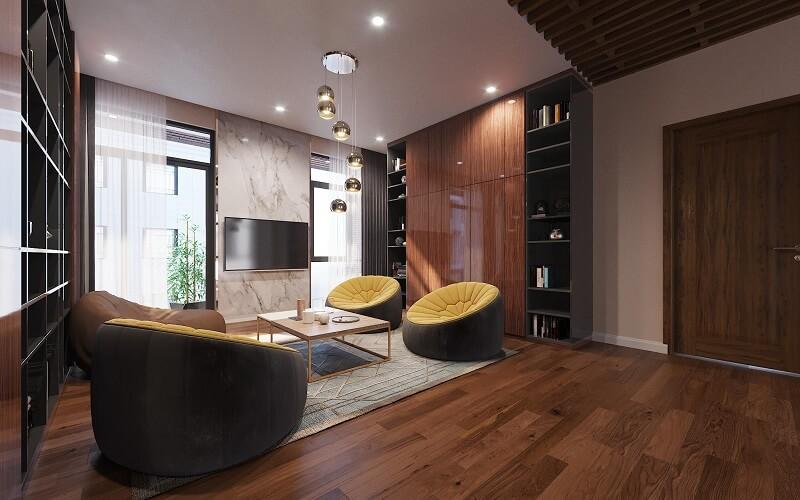 Thiết kế nội thất biệt thự Lạc Long Quân, Tây Hồ, Hà Nội