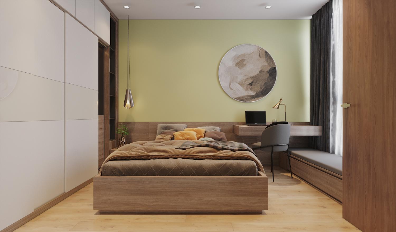 Mẫu thiết kế phòng ngủ có bàn làm việc