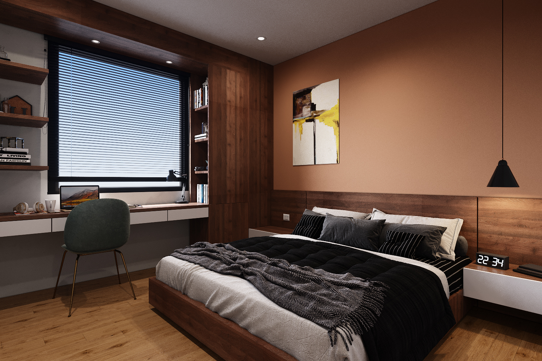 Mẫu thiết kế phòng ngủ theo phong cách Bắc Âu