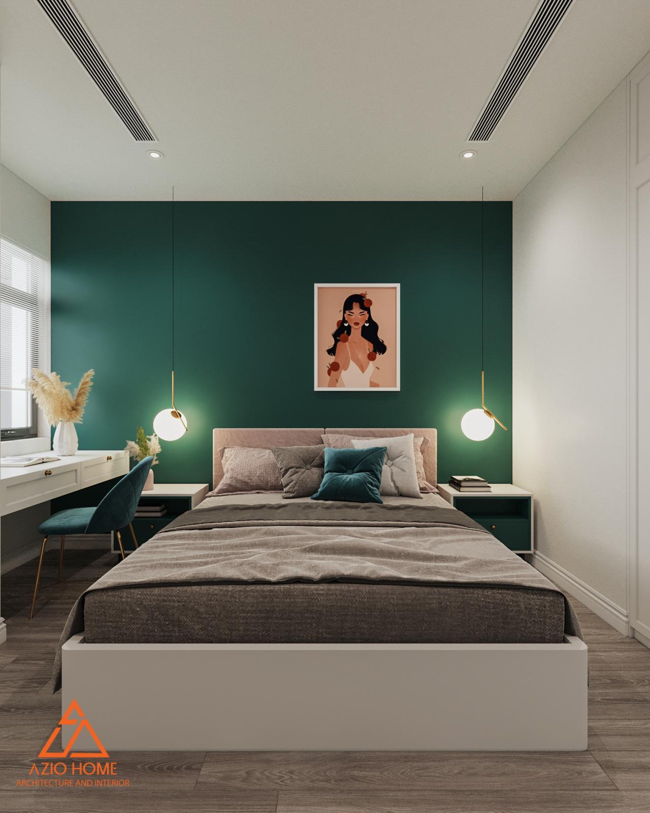 Mẫu thiết kế phòng ngủ cho chủ nhà là nữ độc thân