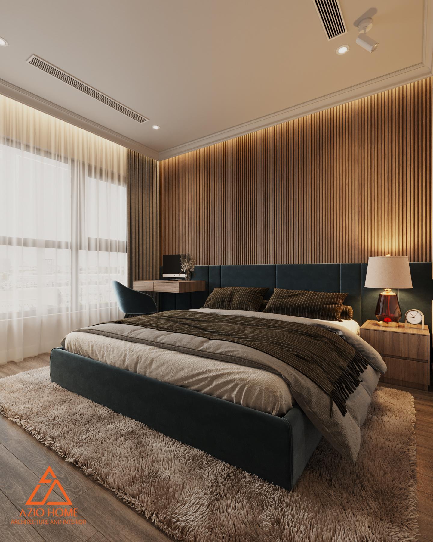 Thiết kế nội thất phòng ngủ căn hộ W3 Vinhomes Westpoint