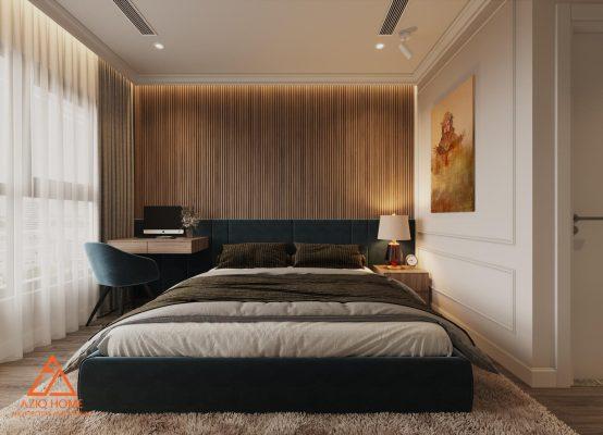 Thiết kế nội thất phòng ngủ căn hộ chung cư cao cấp ở hà nội