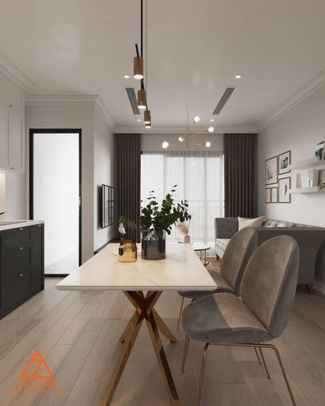 Thiết kế nội thất căn hộ chung cư số 20 tòa G2 Vinhomes Green Bay