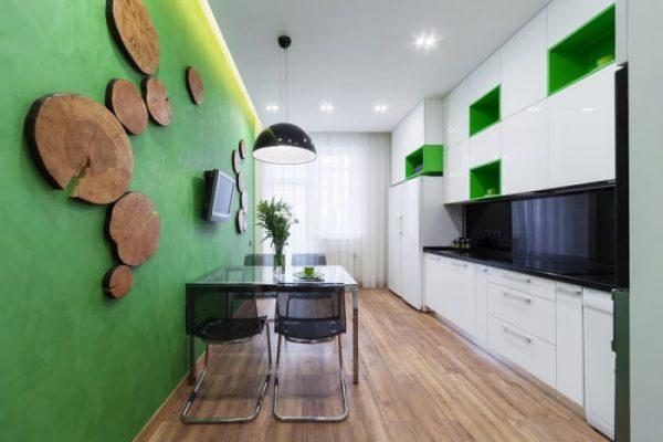 Sử dụng chất liệu gỗ trong thiết kế nội thất nhà bếp