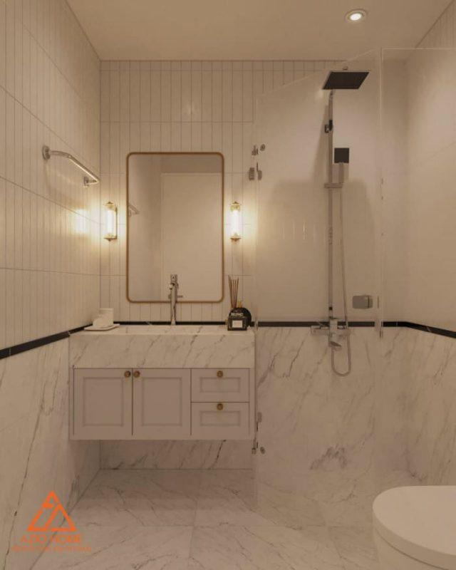 Thiết kế nội thất nhà tắm chung cư Vinhomes Green Bay tại Hà Nội