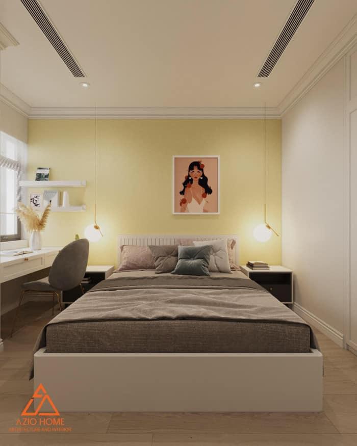 Thiết kế nội thất phòng ngủ chung cư tại Hà Nội