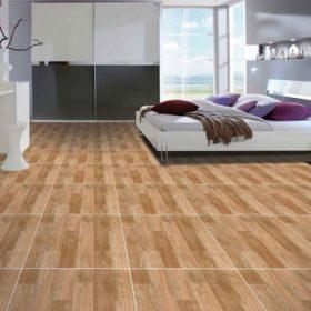 Lát nền nhà bằng gạch giả vân gỗ