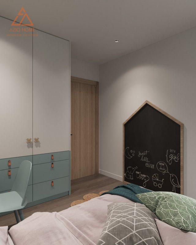 Mẫu thiết kế nội thất phòng ngủ chung cư cho bé trai