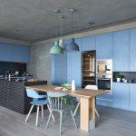 33 mẫu thiết kế bếp hiện đại màu xanh nước biển tuyệt đẹp