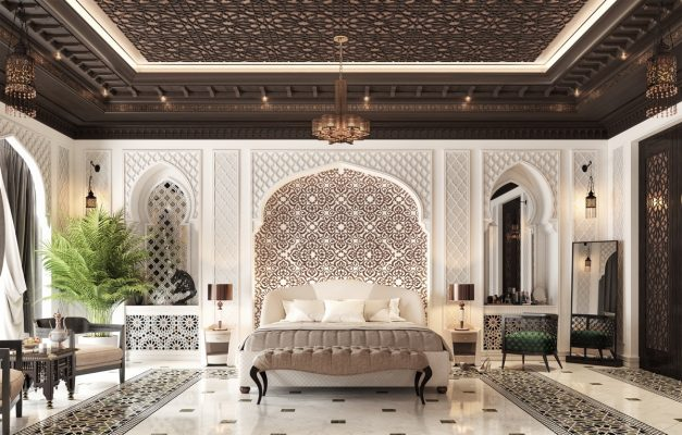 Phòng ngủ sang trọng pha lẫn cổ điển hiện đại