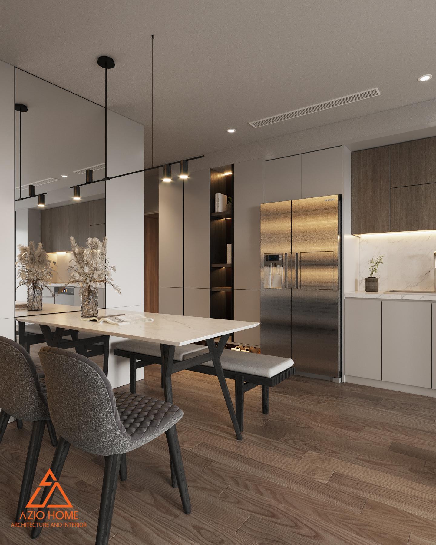 Phòng bếp thiết kế theo tổng thể hài hòa