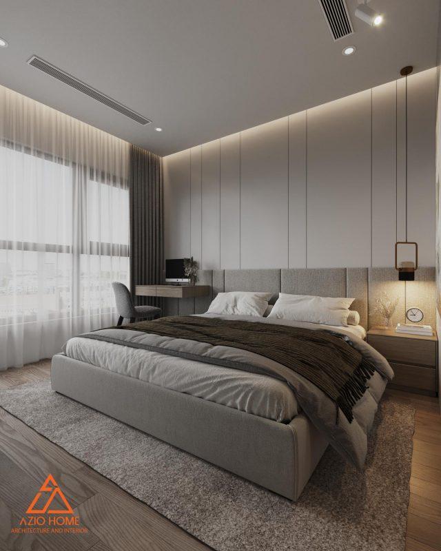 Phòng ngủ đơn giản nhưng không mất đi vẻ đẹp của phong cách chủ nhà yêu cầu