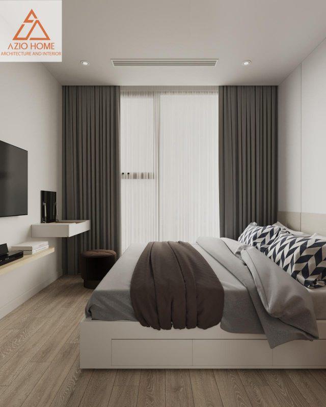 Nội thất phòng ngủ hoàn thiện của Aziohome