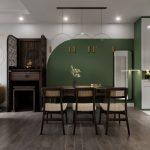 Thiết kế thi công căn hộ Times City Minh Khai – Căn hộ xanh Oliu