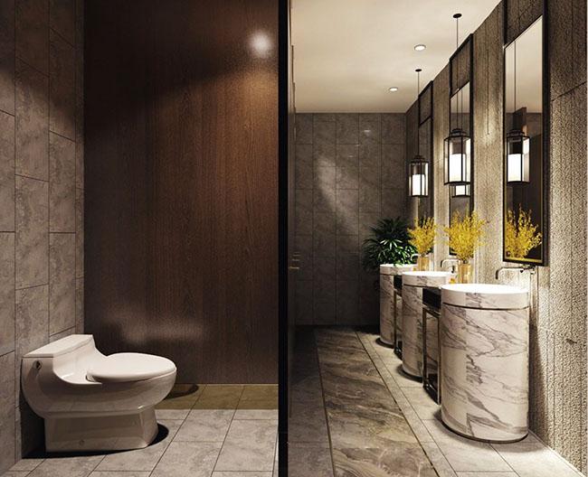 Sạch sẽ, gọn gàng khi mà phòng tắm sử dụng nội thất phong cách này