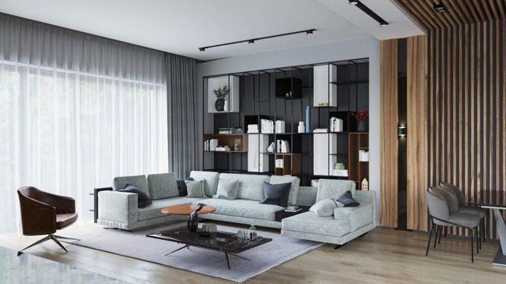 Thiết kế nội thất phòng khách căn hộ Vinhomes West Point