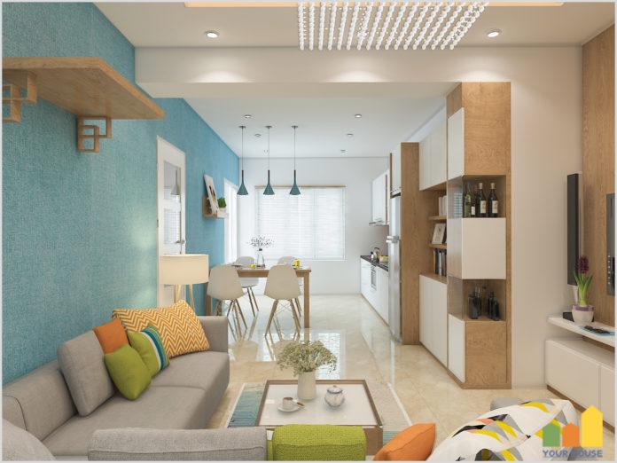 Phối màu sắc nội thất căn hộ Vinhomes Smart City