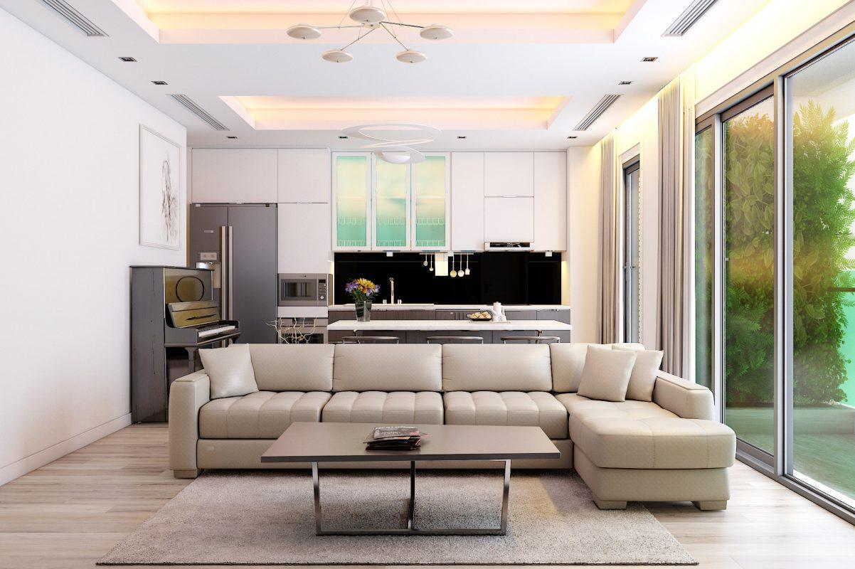 Màu trắng được chọn làm gam màu chủ đạo trong thiết kế nội thất chung cư 2 phòng ngủ giúp căn hộ trở nên thông thoáng, rộng rãi hơn bên cạnh đó việc sử dụng màu sắc này kết hợp cùng những nội thất màu sắc khác cũng trở nên đơn giản hơn rất nhiều.