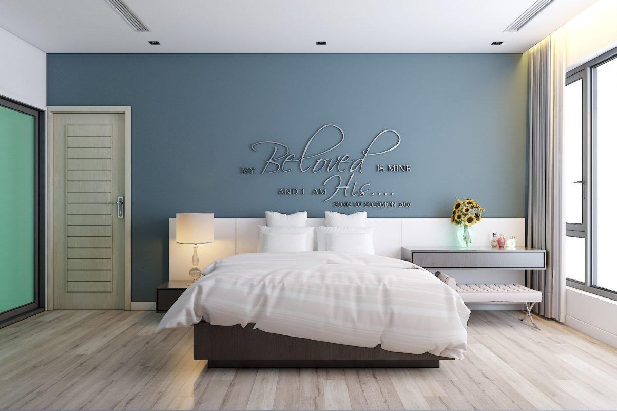 Thiết kế nội thất chung cư 2 phòng ngủ trẻ trung sinh động với sắc màu tươi mới hiện đại, mỗi phòng ngủ sở hữu một vẻ đẹp riêng phù hợp với sở thích của chủ nhân để mang đến một thế giới nghỉ ngơi riêng tư cảm nhận được sự thoải mái, yên tĩnh khi trở về ngôi nhà thân yêu của mình.