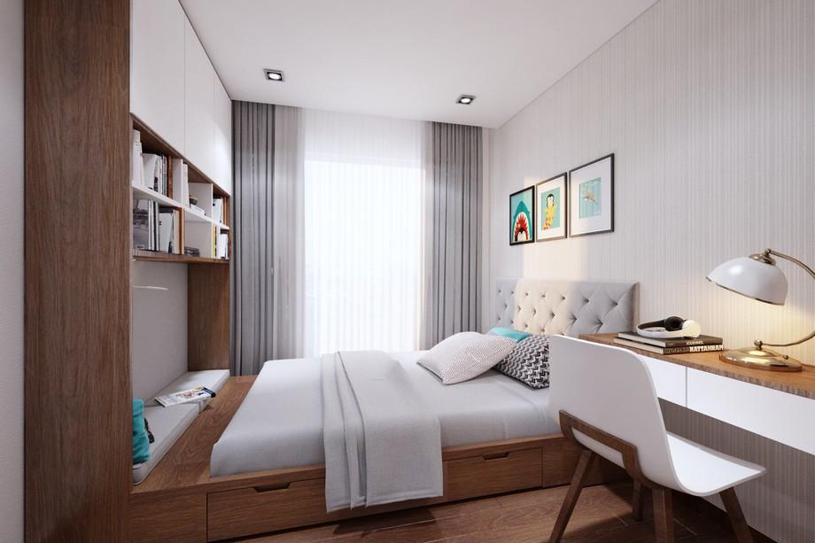 Thiết kế nội thất phòng ngủ con chung cư Vinhomes Smart City