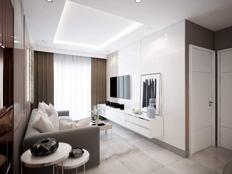 Sự kết hợp giữa những gam màu khác nhau sẽ giúp căn phòng không bị đơn điệu, tuy nhiên nên trang trí một vài vât nhỏ để giúp cho căn phòng không bị nhàm chán.