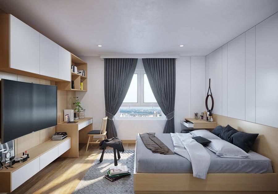 Tân dụng ánh sáng cho không gian căn phòng rất cần thiết, tuy nhiên để điều tiết ánh sáng không bị nắng chiếu vào căn phòng gia chủ nên chọn những chiếc rèm cửa có gam màu phù hợp với những món đồ nôi thất, không quá màu mè sẽ ảnh hưởng đến phong thủy.