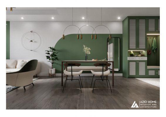 Căn hộ chung cư được thiết kế nội thất không gian xanh